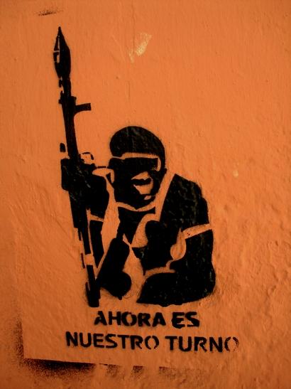 Maintenant c'est notre tour. Stencil, Granada.