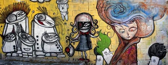 histamina. Graffiti, Granada. Photo-montage