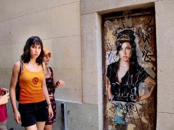 Amy Winehouse. Andrea Michaelsson. Poster, Stencil. Barcelona