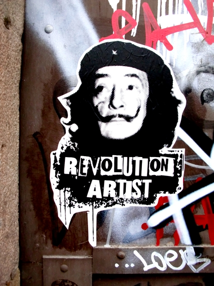 Revolution artist. Poster. Barcelona