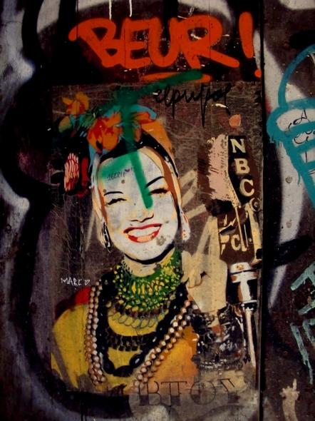 Carmen Miranda. BTOY. Stencil, poster. Barcelona